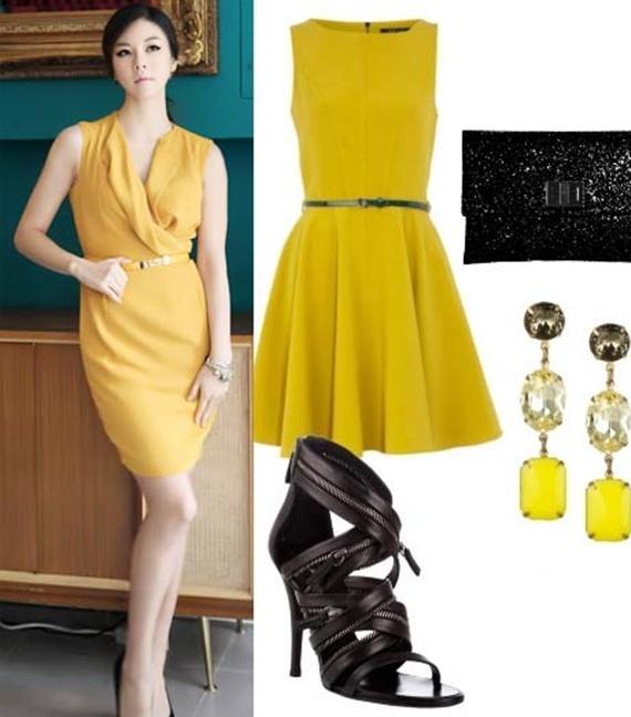 Váy tông vàng mùa thu 2