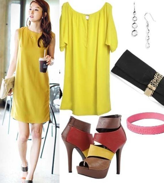 Váy tông vàng 01