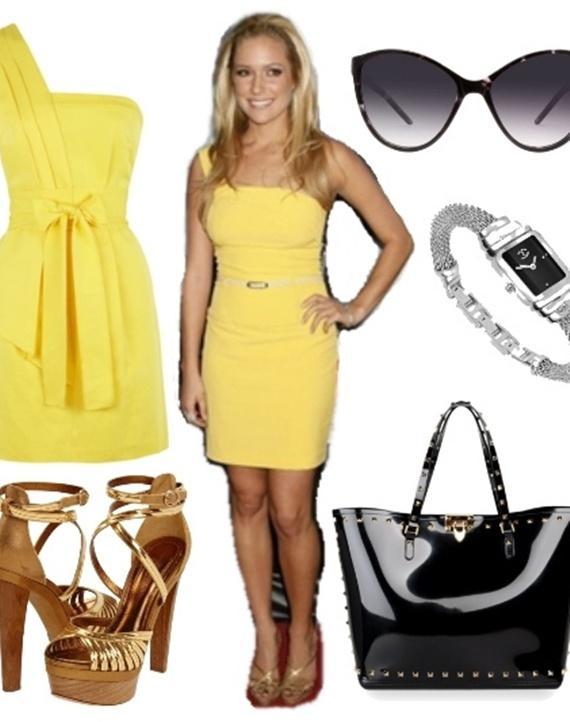 Váy tông vàng 03