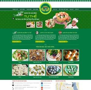 Mẫu web nhà hàng 09