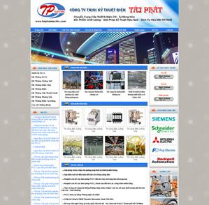 Mẫu web Điện tử 03