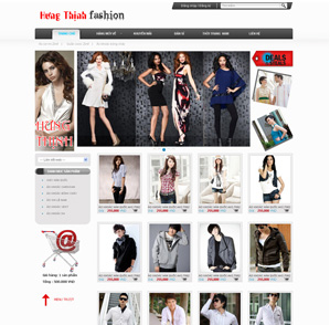 Mẫu web thời trang 02
