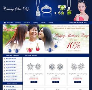 Mẫu web thời trang 08